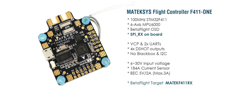 Flight Controller F411-ONE – Matek Systems