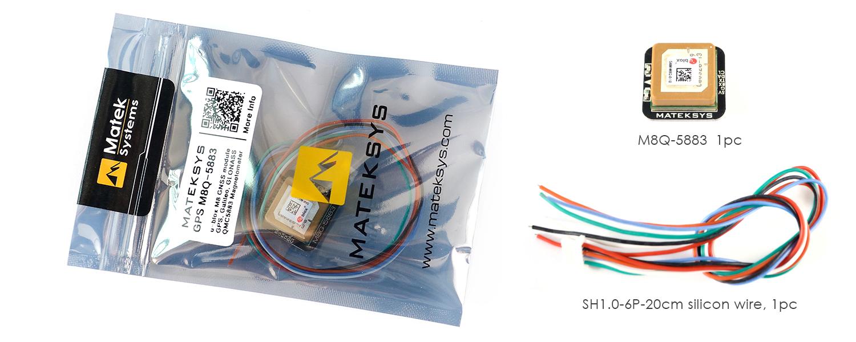 GPS & Compass M8Q-5883 – Matek Systems