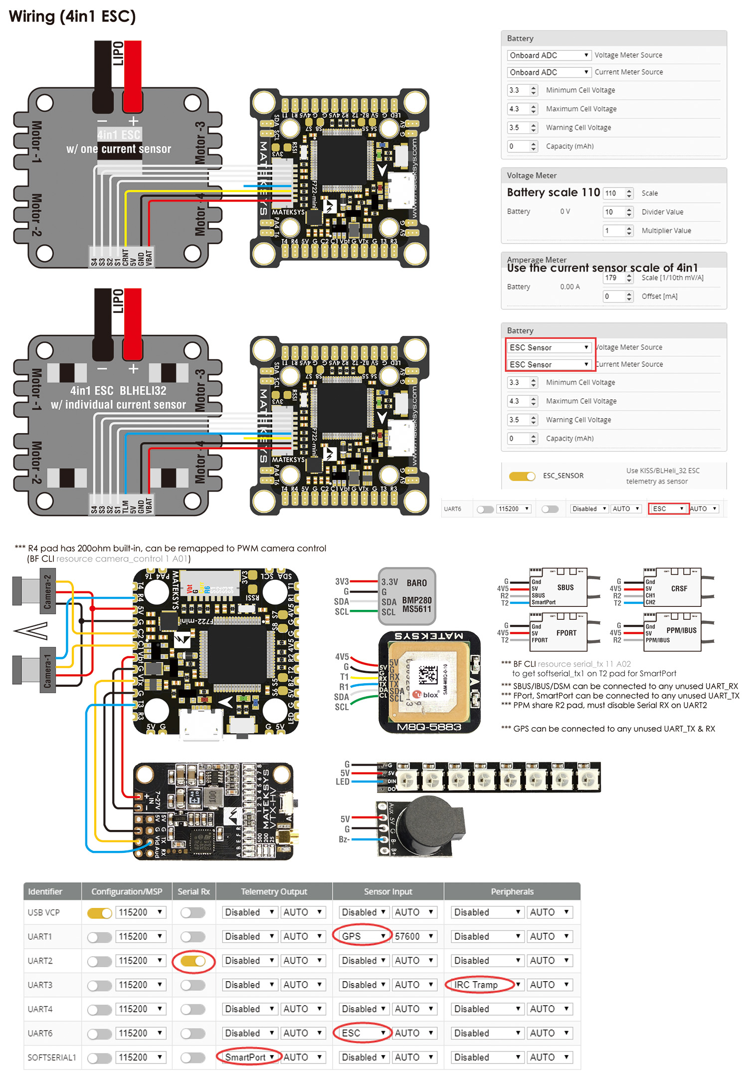 Flight Controller F722mini     Matek Systems